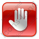 Stop Box Red Icon, PNG/ICO, 128x128