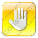 Stop Box Yellow Icon, PNG/ICO, 128x128