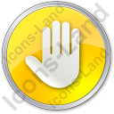 Stop Circle Yellow Icon, PNG/ICO, 128x128
