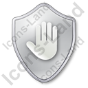 Stop Shield Grey Icon, PNG/ICO, 128x128
