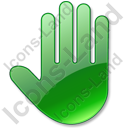 Stop Hand Green Icon, PNG/ICO, 128x128