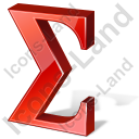 Summation 3D Red Icon