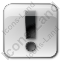Warning Box Grey Icon