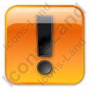 Warning Box Orange Icon
