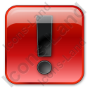 Warning Box Red Icon