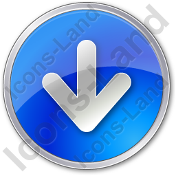 Arrow Down Circle Blue Icon