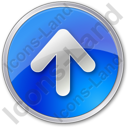 Arrow Up Circle Blue Icon, PNG/ICO, 256x256