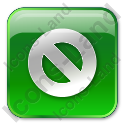 Cancel Box Green Icon