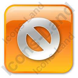 Cancel Box Orange Icon, PNG/ICO, 256x256