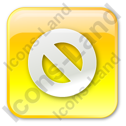 Cancel Box Yellow Icon