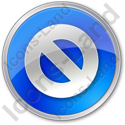 Cancel Circle Blue Icon