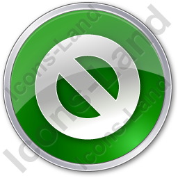 Cancel Circle Green Icon, PNG/ICO, 256x256