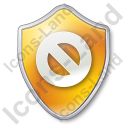 Cancel Shield Yellow Icon, PNG/ICO, 256x256