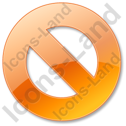 Cancel Orange Icon, PNG/ICO, 256x256