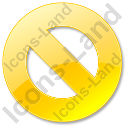 Cancel Yellow Icon
