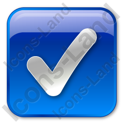 Checked Box Blue Icon, PNG/ICO, 256x256