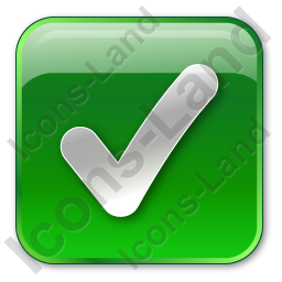 Checked Box Green Icon