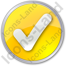 Checked Circle Yellow Icon