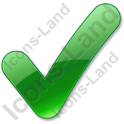 Checked Green Icon, PNG/ICO, 256x256