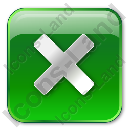 Close Box Green Icon, PNG/ICO, 256x256