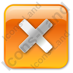 Close Box Orange Icon, PNG/ICO, 256x256