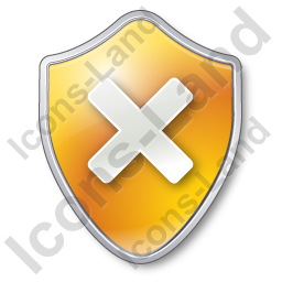 Close Shield Yellow Icon