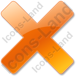 Close Orange Icon, PNG/ICO, 256x256