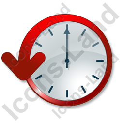 Clock Delay Icon, PNG/ICO, 256x256