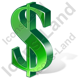 Dollar 3D Green Icon