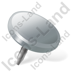 Drawing Pin 2 Grey Icon, PNG/ICO, 256x256