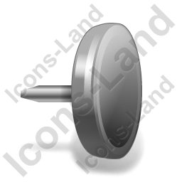 Drawing Pin 4 Black Icon, PNG/ICO, 256x256