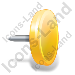 Drawing Pin 4 Yellow Icon