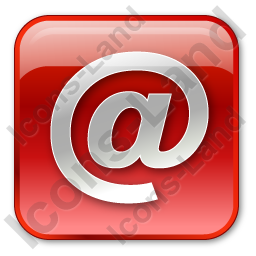 EMail Box Red Icon, PNG/ICO, 256x256