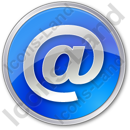 EMail Circle Blue Icon, PNG/ICO, 256x256