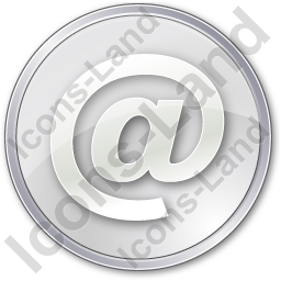 EMail Circle Grey Icon, PNG/ICO, 256x256