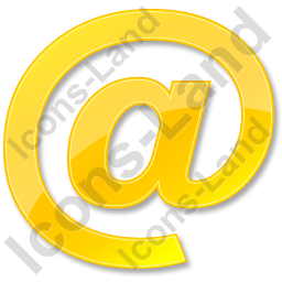 EMail Yellow Icon, PNG/ICO, 256x256