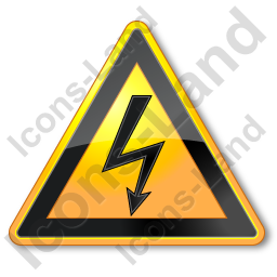 Electric Sign Triangle Icon