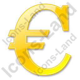 Euro Yellow Icon