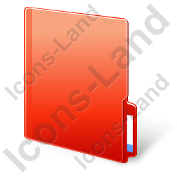Folder Closed Red Icon, PNG/ICO, 256x256
