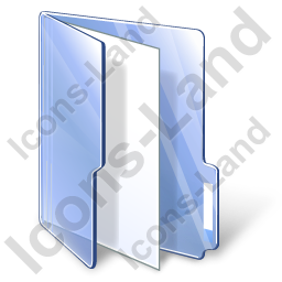 Folder File Blue Icon, PNG/ICO, 256x256