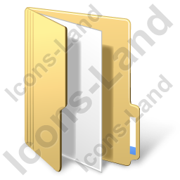Folder File Yellow Icon, PNG/ICO, 256x256