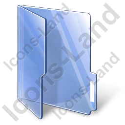 Folder Opened Blue Icon, PNG/ICO, 256x256