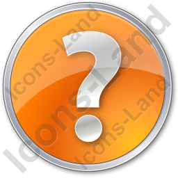Help Circle Orange Icon, PNG/ICO, 256x256