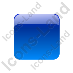 Indicator Box Blue Off Icon, PNG/ICO, 256x256