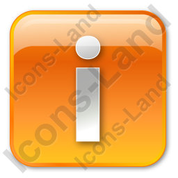 Info Box Orange Icon, PNG/ICO, 256x256