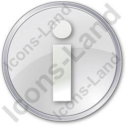 Info Circle Grey Icon, PNG/ICO, 256x256