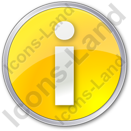 Info Circle Yellow Icon, PNG/ICO, 256x256