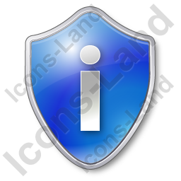 Info Shield Blue Icon, PNG/ICO, 256x256
