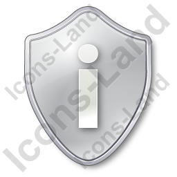 Info Shield Grey Icon