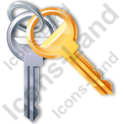 Keys Icon, PNG/ICO, 256x256